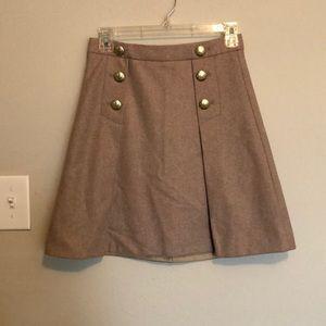 J. Crew Pleated Mini Skirt size 00